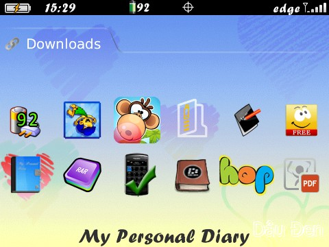 my personal diary blackberry free