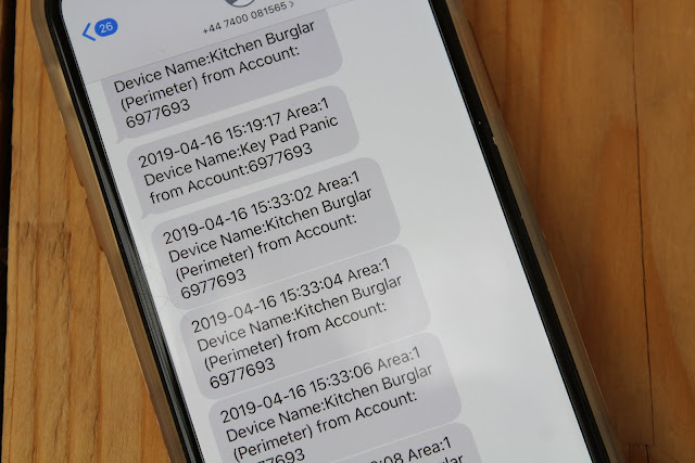 Yale Smart Alarm Text Message Notifications