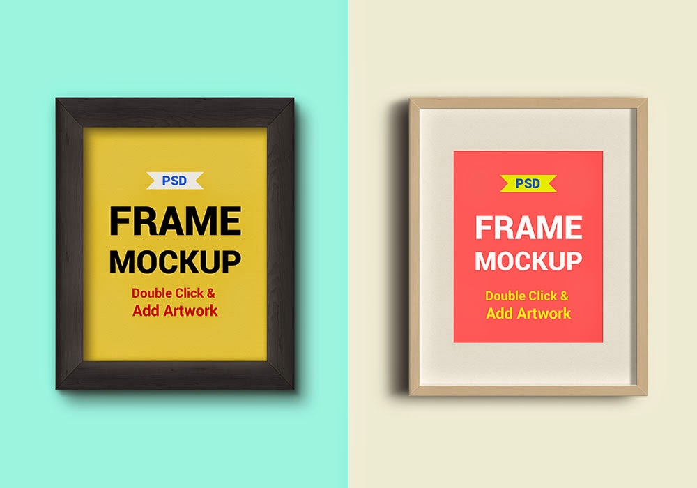 Photo Frames Mockups PSD