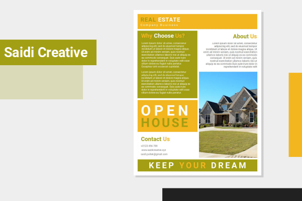 Open House Flyer Template Free Download on Microsoft Word File Fully Editable