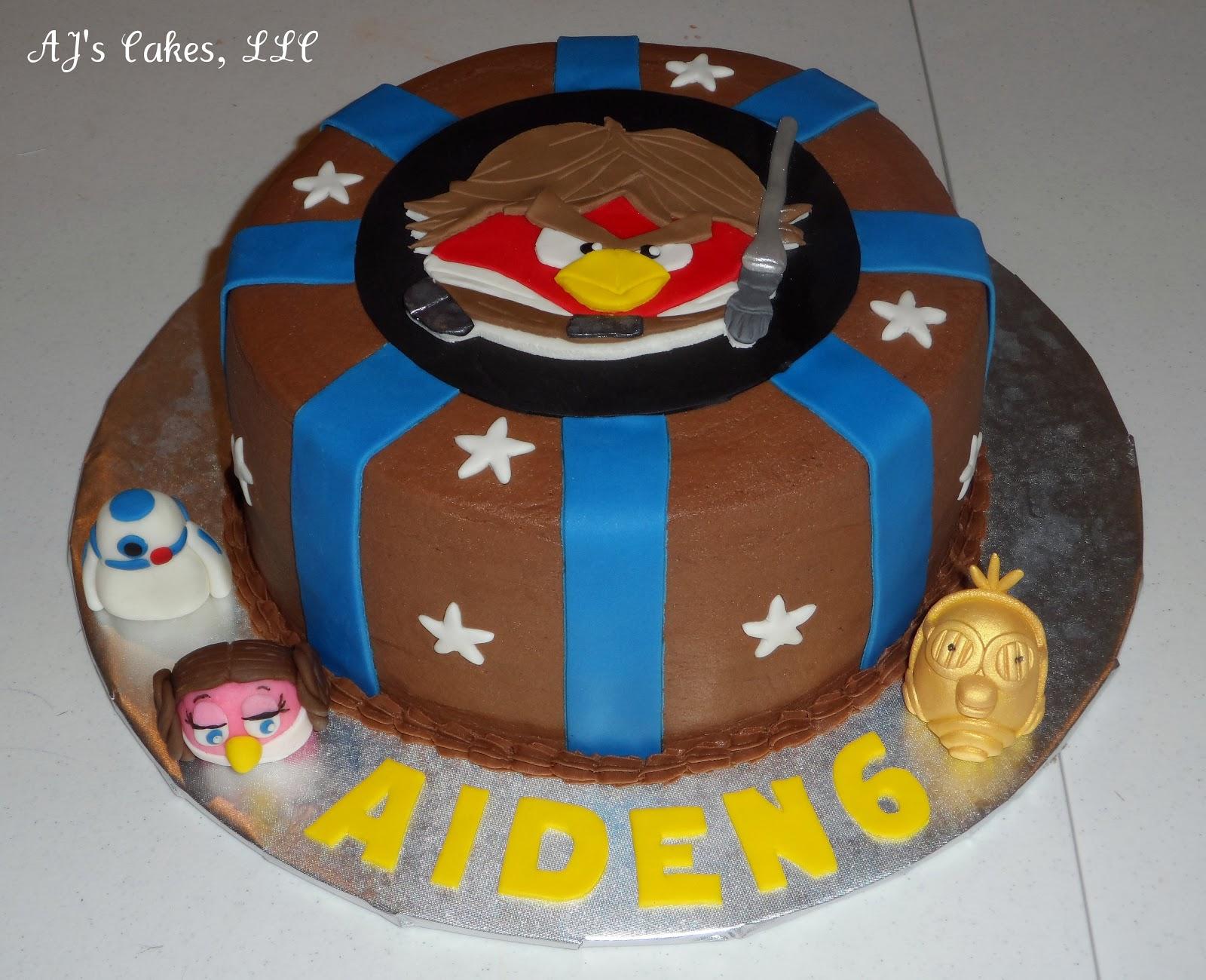 Aj S Cakes Star Wars Angry Birds
