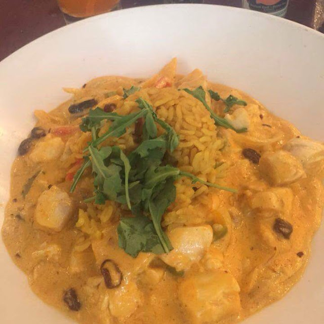 fish curry at Flaherty's Carmel