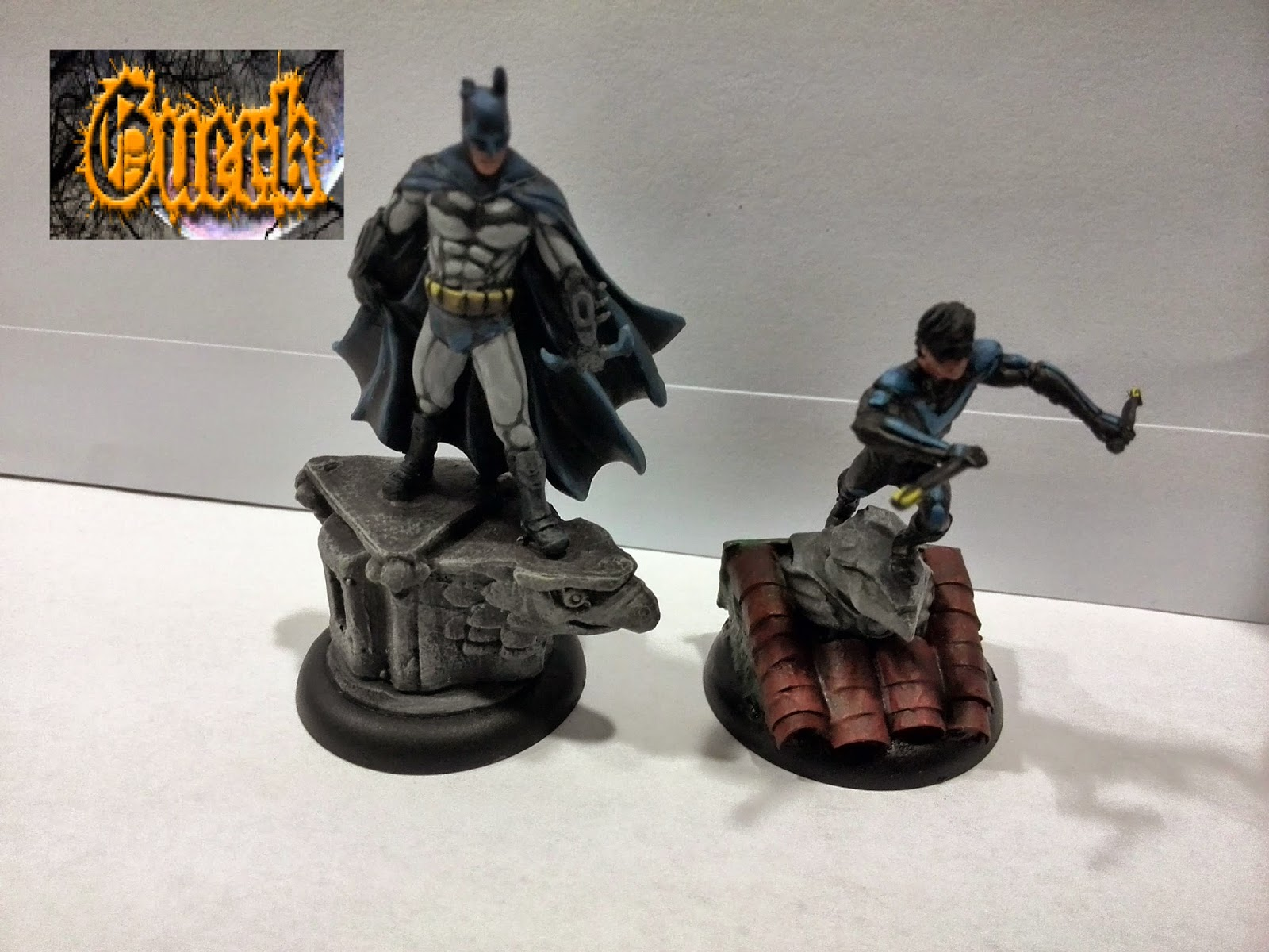 batman-nightwing-pintado-knight model-batman miniature game-batman arkham asylum-nightwing arkham asylum-painted