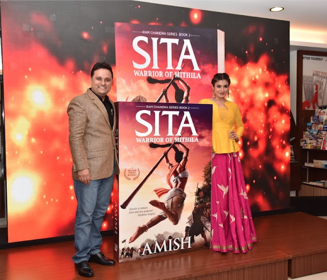 Amish and Raveena Tandon launch the book cover of 'Sita- Warrior of Mithila'