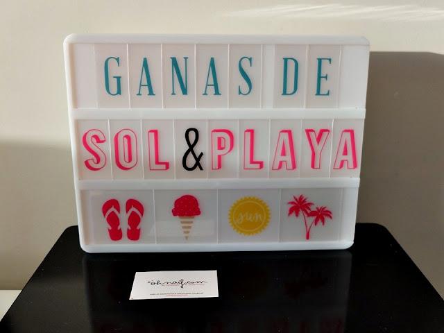 lightbox caja de luz ganas de sol y playa