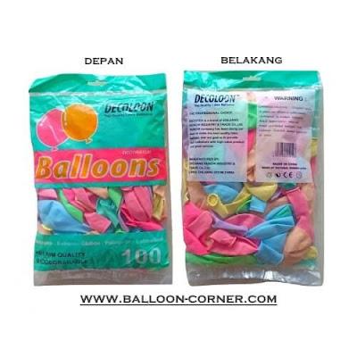 Balon Latex Macaron Mix Colour (DECOTEX)