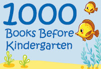Colorful seascape with 2 yellow fish and the words 1000 Books Before Kindergarten
