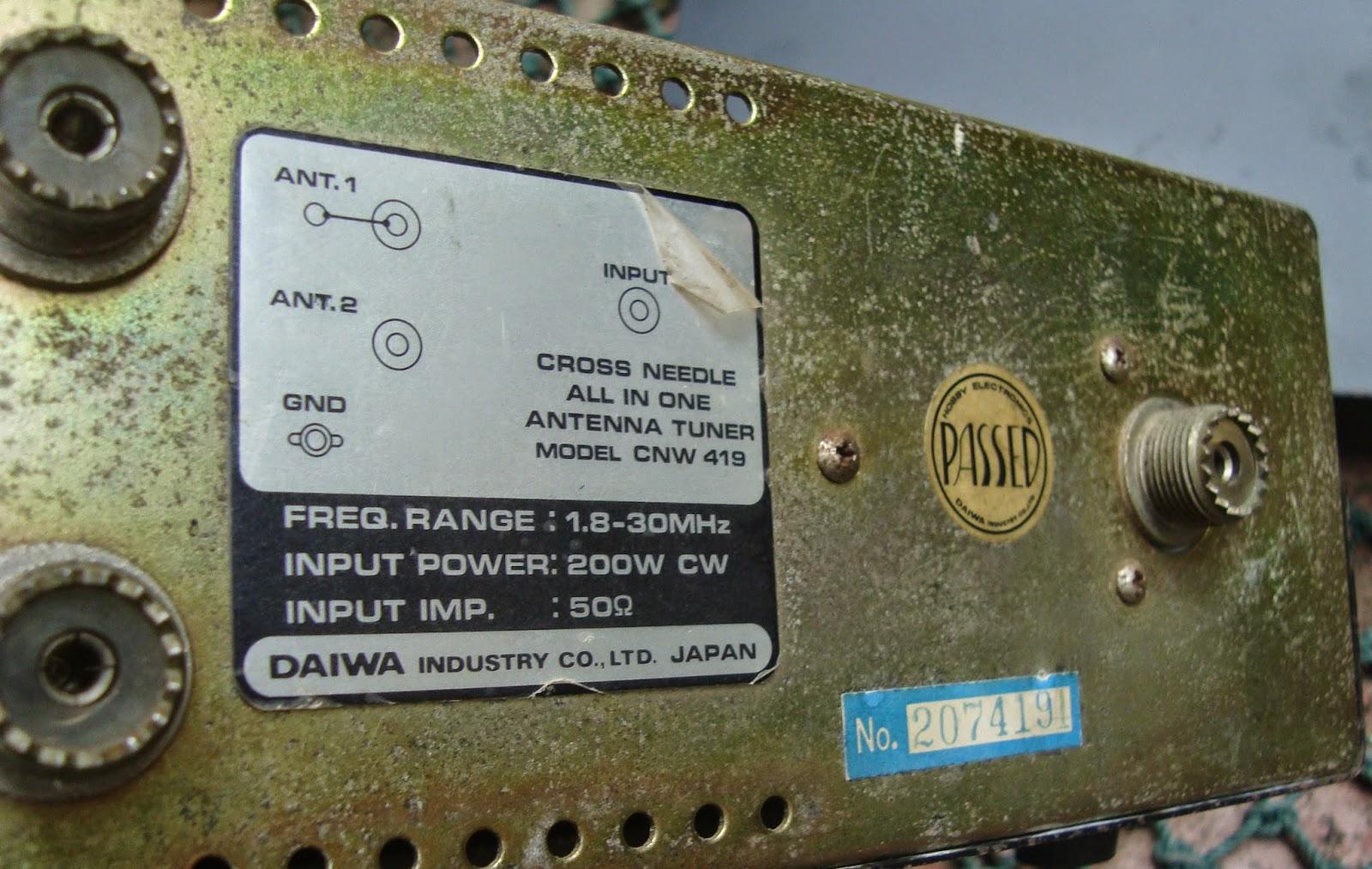 RADIO SELLER: Daiwa CNW 419 HF Antenna Tuner ( SOLD )