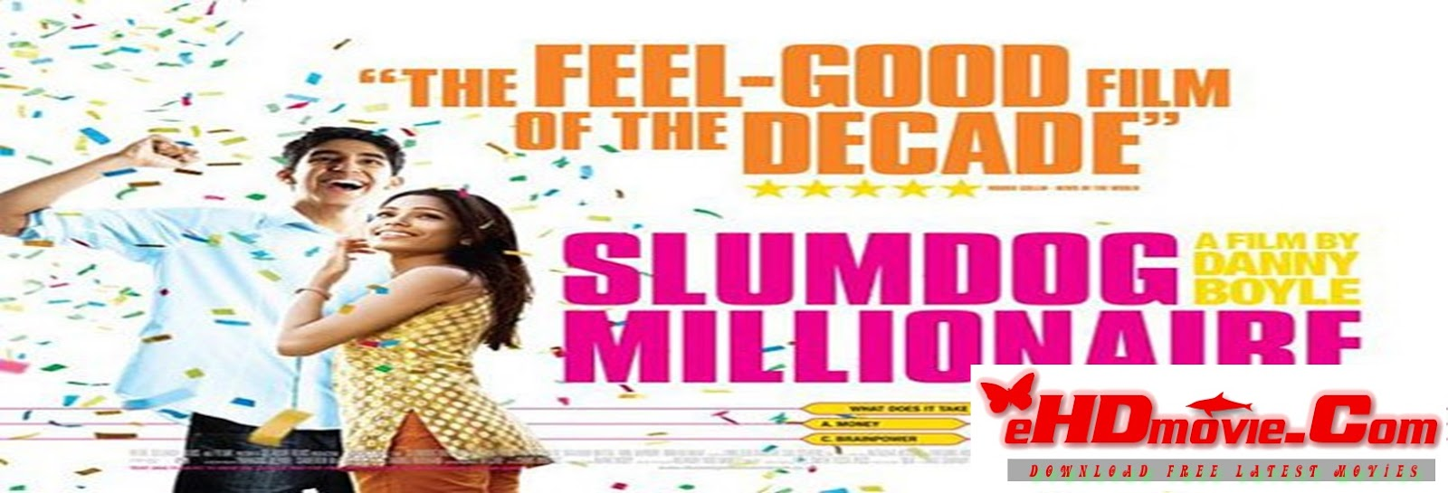 Slumdog Millionaire 2008 Full Movie Hindi 720p - 480p ORG BRRip 450MB - 1.2GB ESubs Free Download