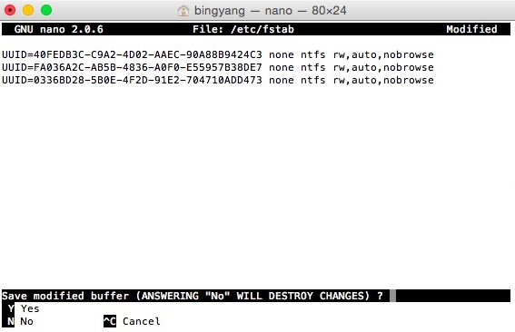 Enable write access to every NTFS partitions under Mac OS X