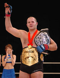 Fedor Emelianenko before his fight against Tim Sylvia at ...