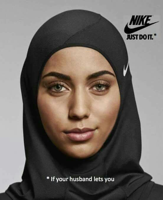 Funny NIKE Just Do It Islam Advert Picture