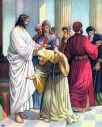 Resultado de imagen para cristo sana a una jorobada