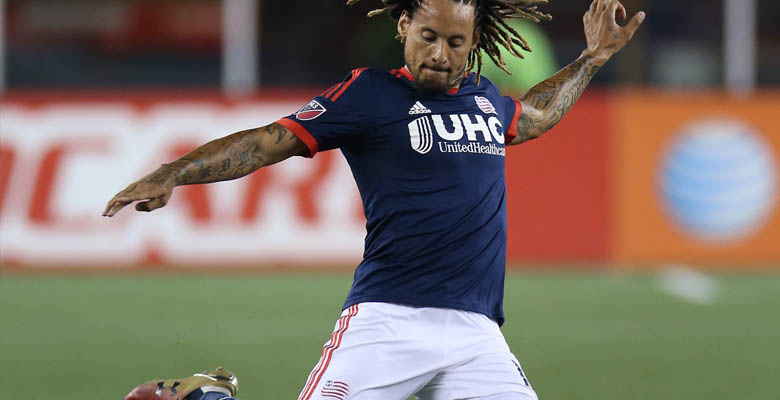 721929c6127 New England Revolution midfielder Jermaine Jones debuted a custom pair of  Under Armour Clutchfit Soccer Cleats in his first match back from groin  injury ...