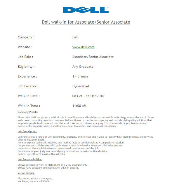Dell walk-in