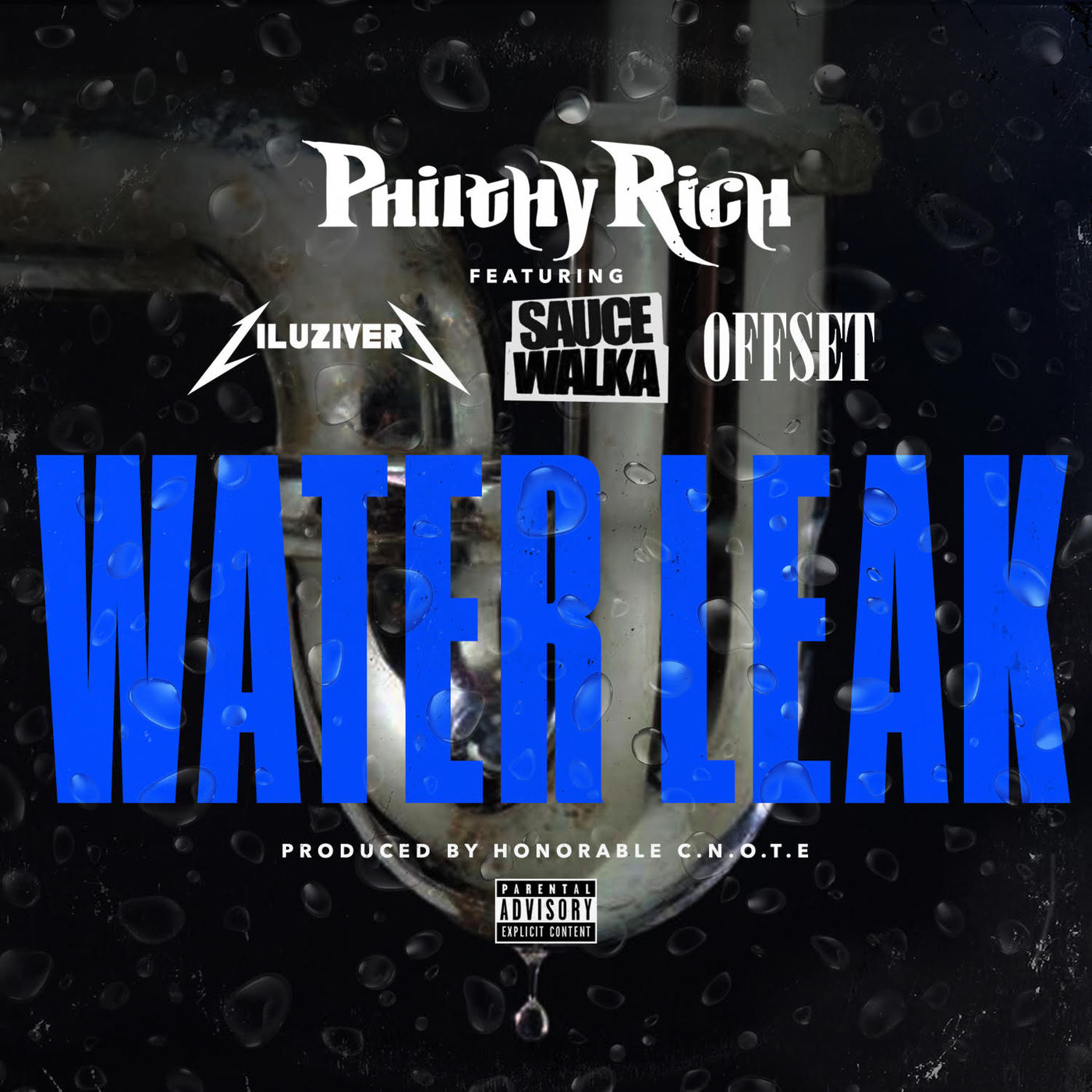 Philthy Rich - Water Leak (feat. Lil Uzi Vert, Sauce Walka & Off Set) - Single Cover