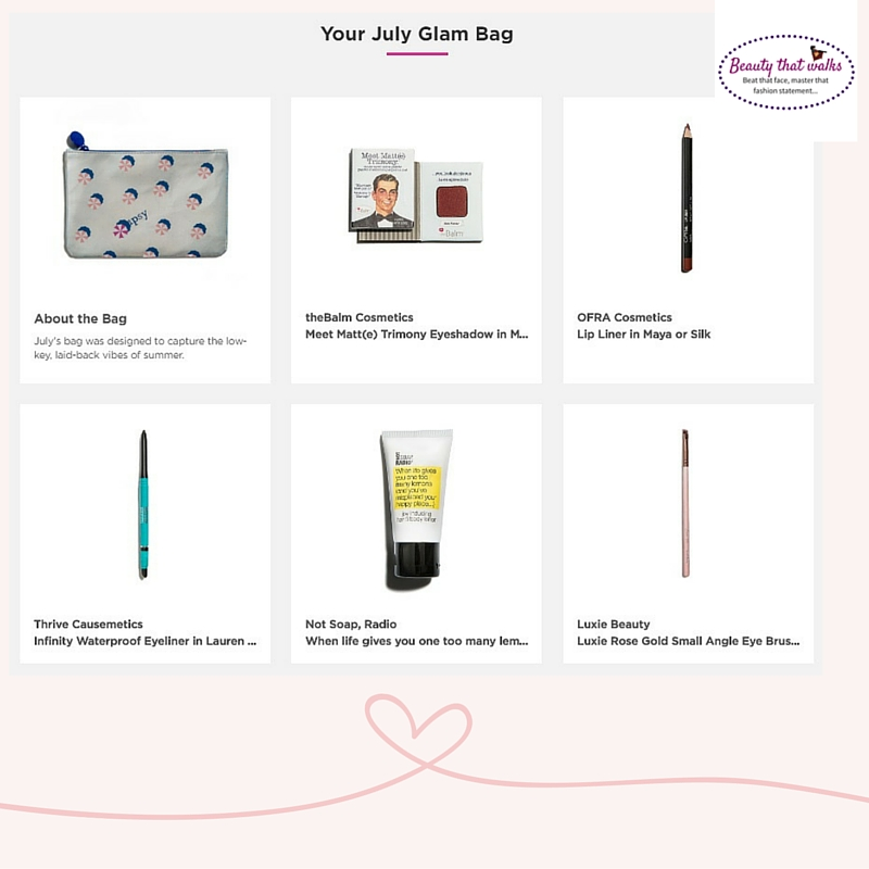 Ipsy Rant (July Glam bag) Ipsy Customer Care