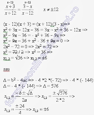2nd degree equation example