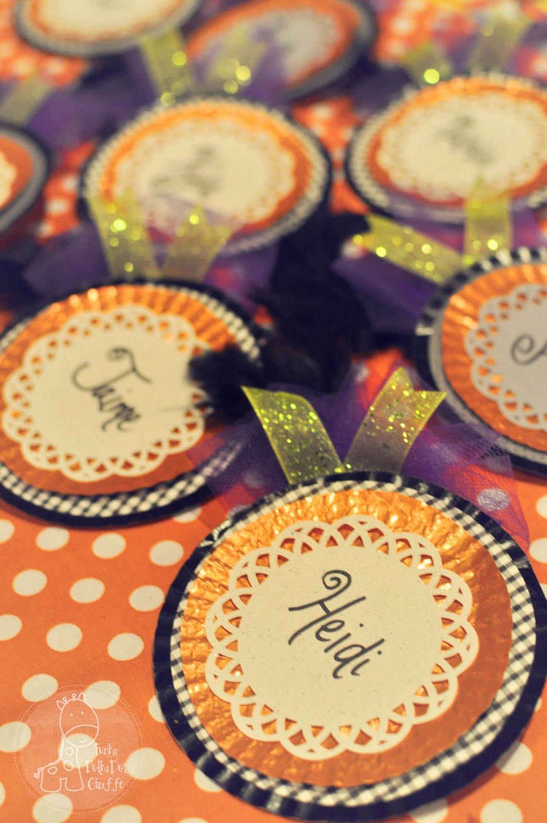 funky polkadot giraffe: a crafty halloween party: fancy shmancy name