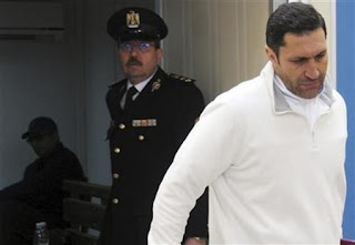 Alaa Mubarak during his detention