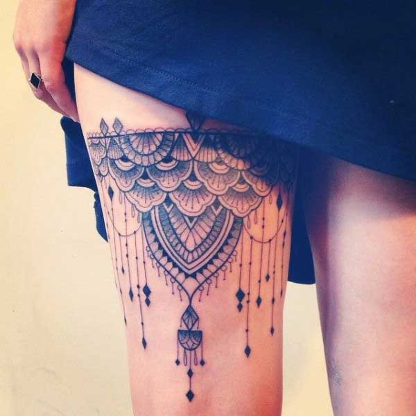 black garter tattoo