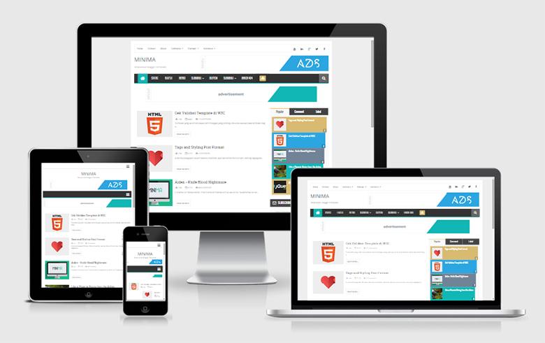 Minima Responsive Blogger Template | free and SEO responsive premium ...