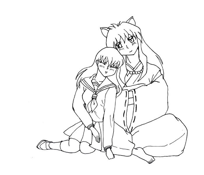 14 coloring pages of inuyasha - Print Color Craft | 599x700