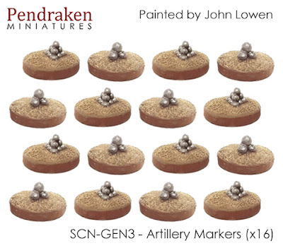 SCN-GEN3    Artillery markers x 16