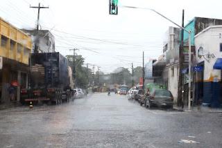 Chove cerca de 44 mm em João Pessoa somente nas últimas 24 horas