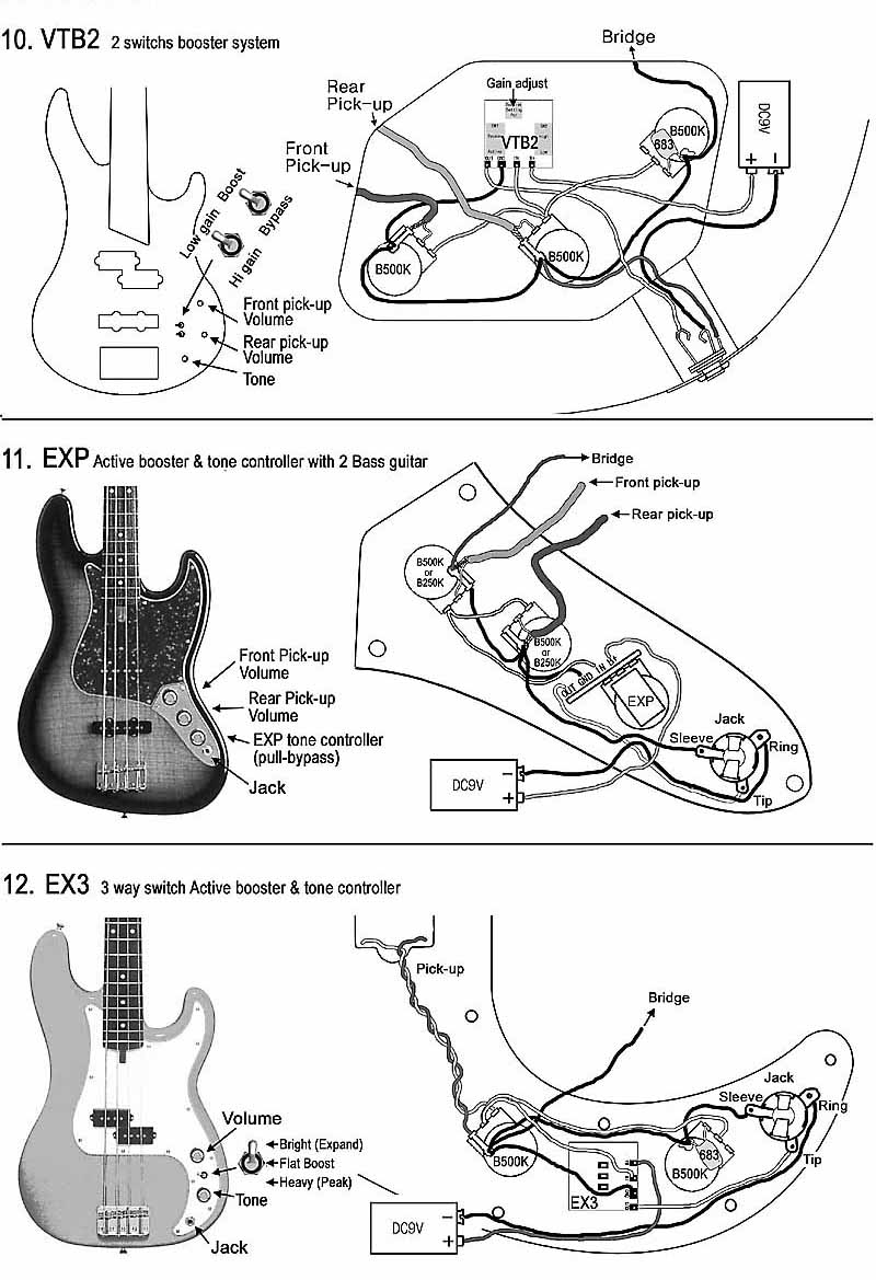 emg wiring diagram marine battery switch ochoey productions: contoh gitar & bass