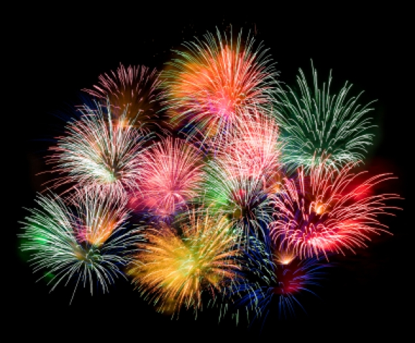 Outstanding colors of Fireworks