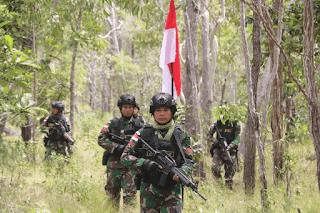 Pengamanan Patok Perbatasan TNI AD