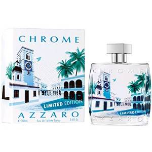 Loris Azzaro Chrome Eau de Toilette Spray for Men, 3.4 Ounce
