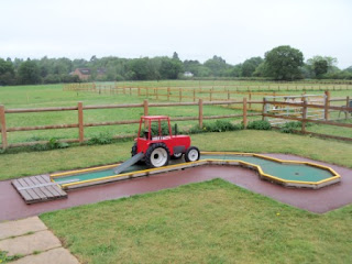 Crazy Golf at the Daisy Made Ice Cream Farm in Skellingthorpe, Lincolnshire.