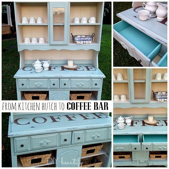 Link it, lump it, link party, kitchen hutch, coffee bar, makeover