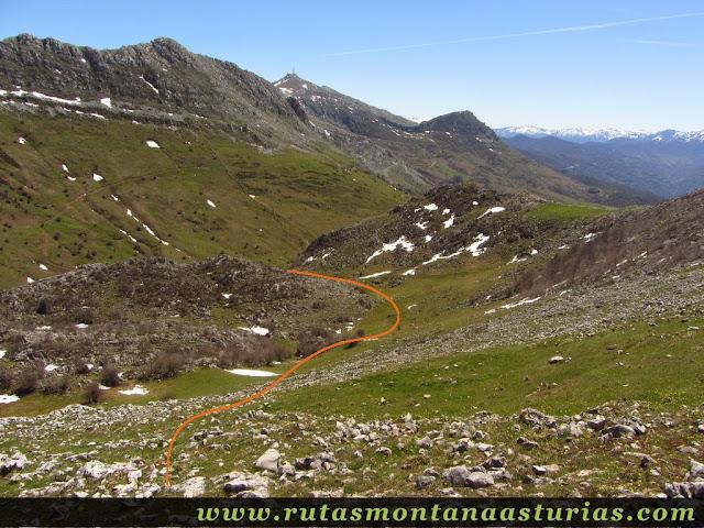 Bajando del Pelitrón al Valle de Covachos