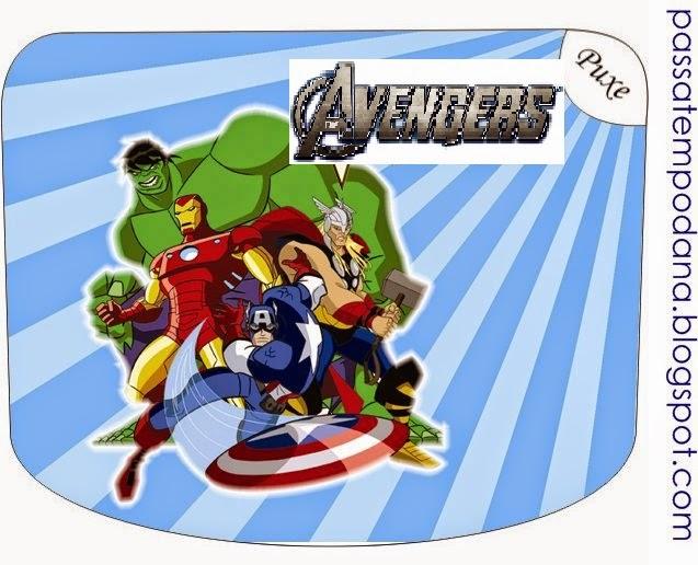 Etiquetas para Imprimir Gratis de los Vengadores.