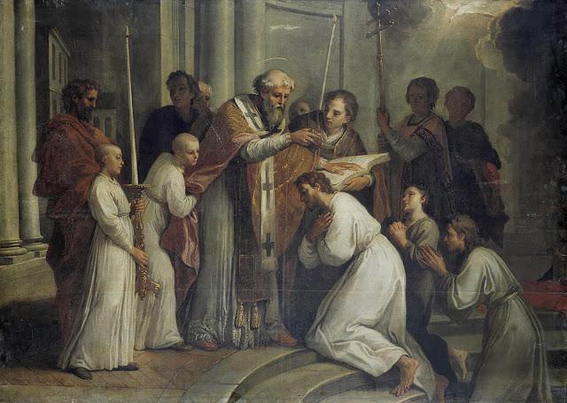 Louis de Boullogne's 'The Baptism of Saint Augustine' (1695 - 1700)