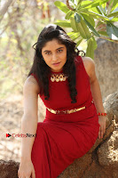 Telugu Actress Zahida Sam Latest Pos in Red Gown at RF Films New Movie Opening  0366.JPG