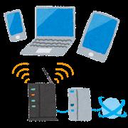 無線ネットワークのイラスト