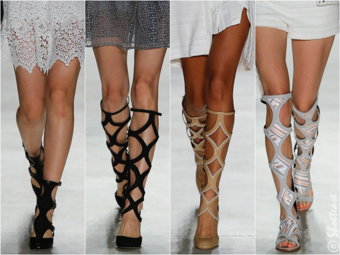 473b19d9105cda Gladiator sandals were a big hit during New York Fashion Week 2016
