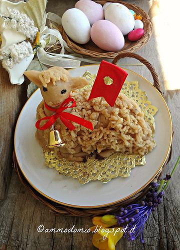 pecorella in pasta di mandrle