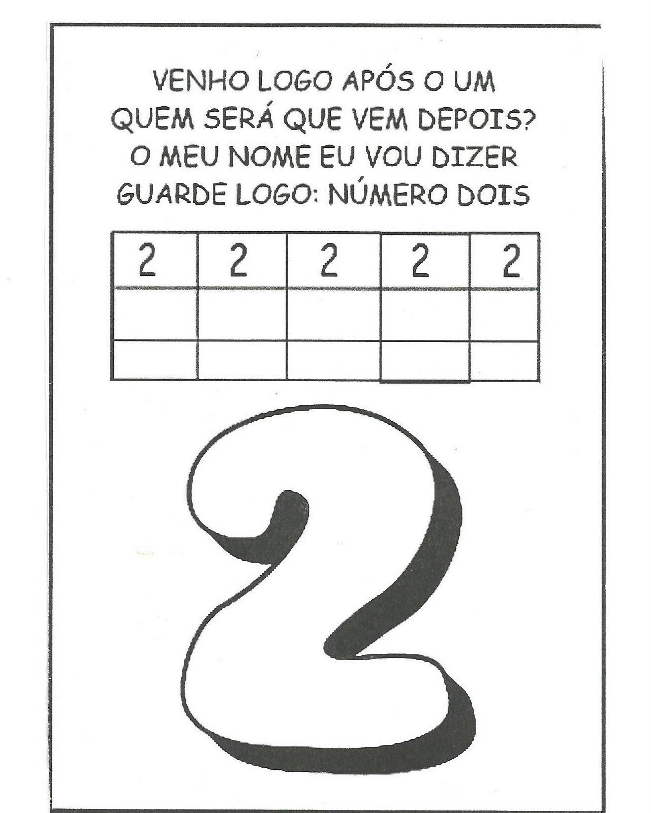 Favoritos Atividades com o numeral 2 - Educação Infantil | Aprendendo com a  VW54