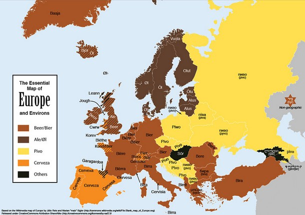 Beer Names in Different European Languages