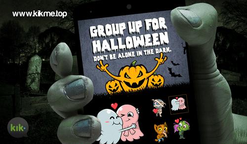 festejar Halloween en Kik Messenger