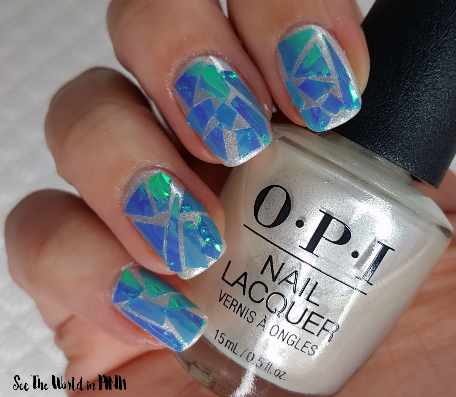 Manicure Monday - Broken Glass Nails