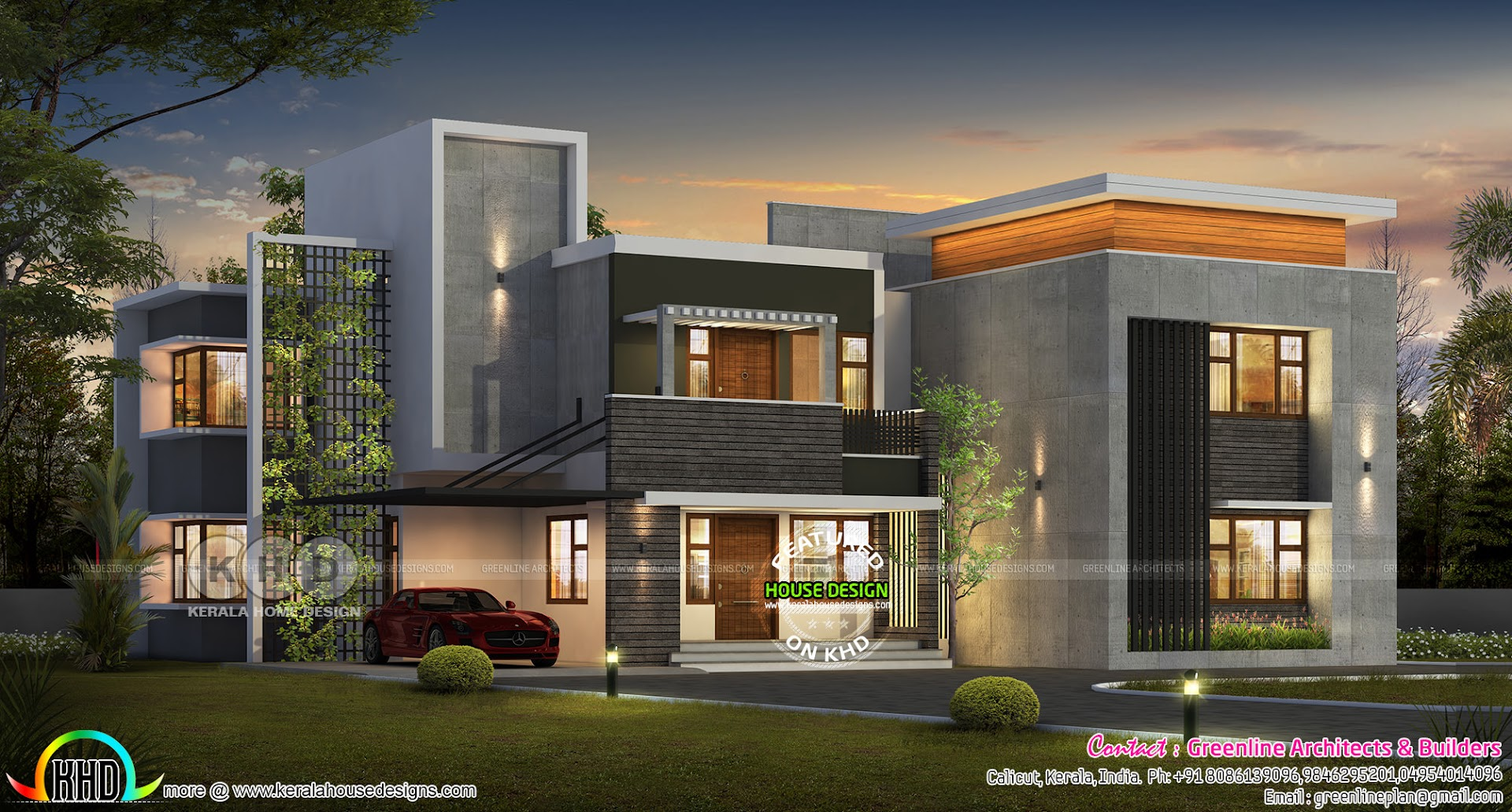 Ultra modern 5 bedroom contemporary house plan - Kerala ...