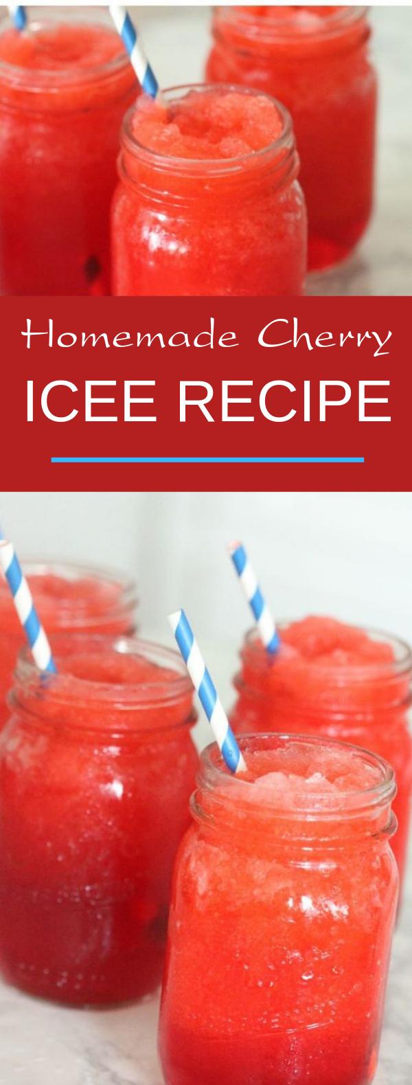 Homemade Cherry Icee Recipe #summer #freshdrink