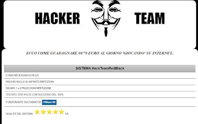 Hacker Team come guadagnare sui casinò online opinioni recensione
