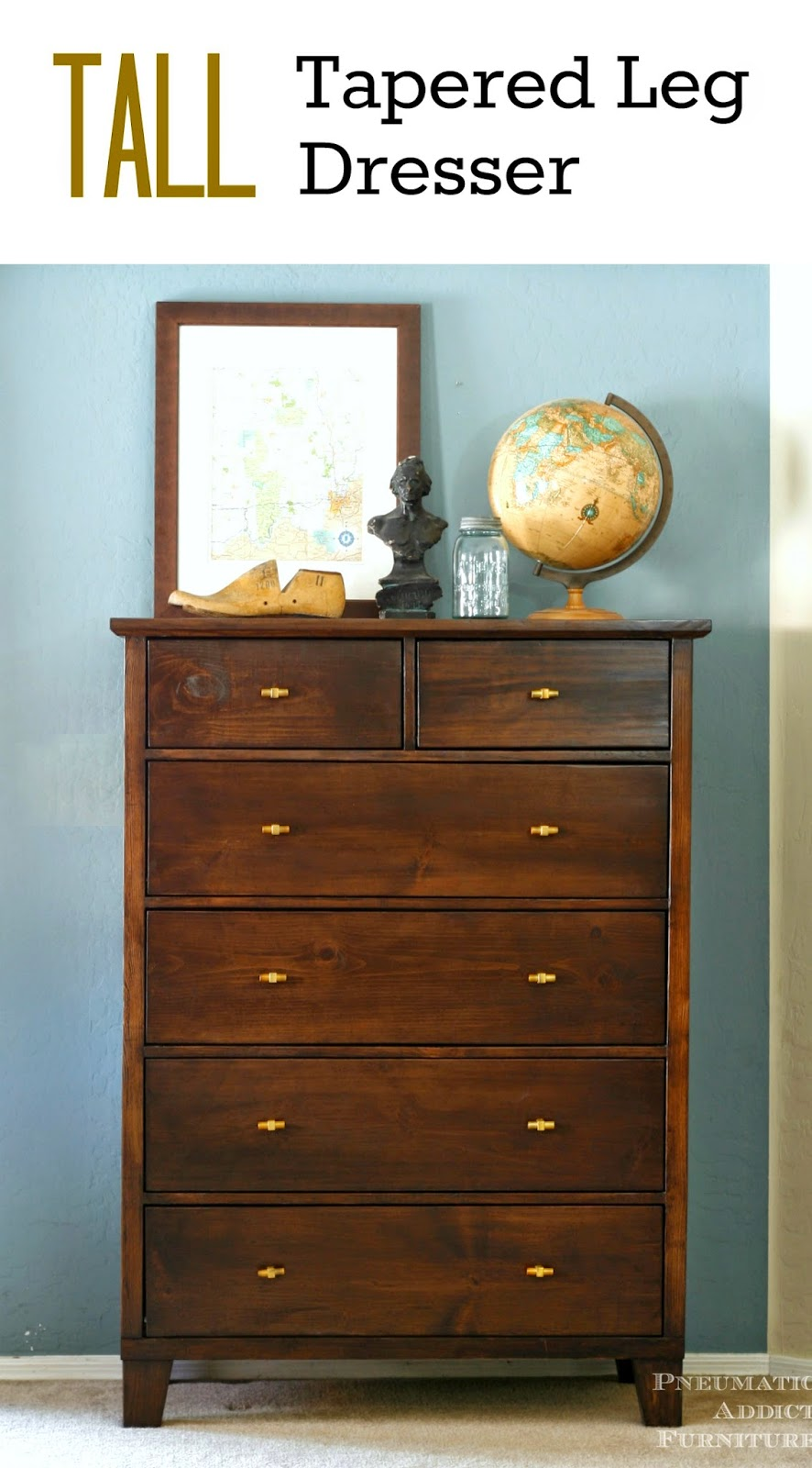 This is beautiful! Learn to build your own PB knock-off, tall dresser.